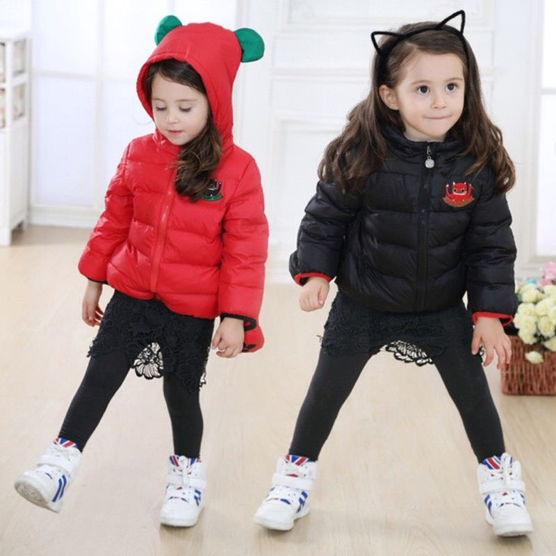 ~ C2101 ~ 男女小童兒童帶手套保暖羽絨外套