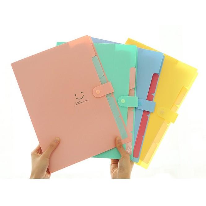 簡單 ~ ~多層資料夾檔案夾收納夾文件夾韓國清新 簡約馬卡龍色糖果色辦公檔案袋