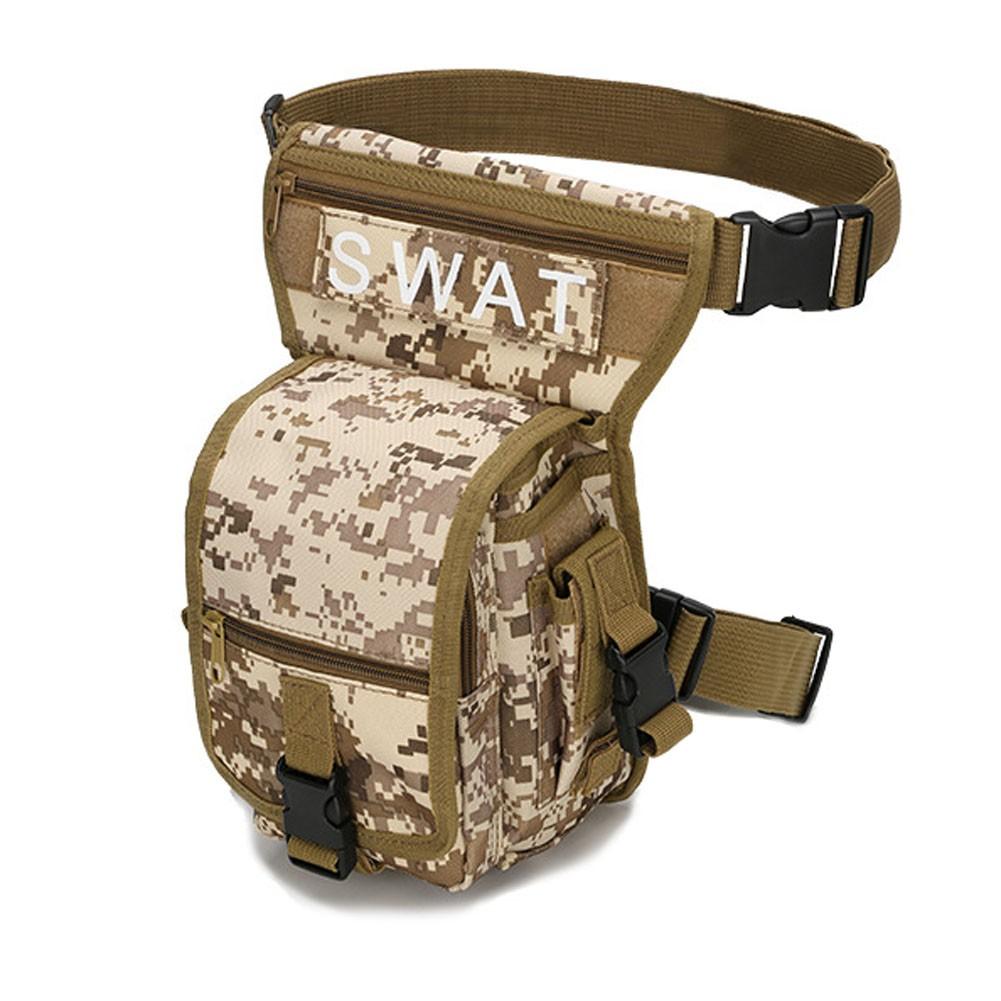 凡庫 腰包戰術軍迷腿包登山戶外釣魚機動工具腰包防水戰術腰包腿包補給包腰包掛包腰間包ipho