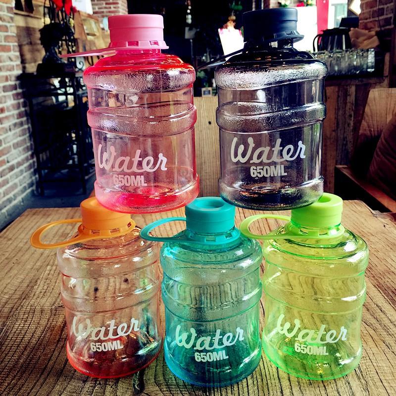 VYPST 六色韓國迷你桶裝塑膠 方便攜帶學生情侶上班族 員水瓶水桶杯子水壺隨手杯
