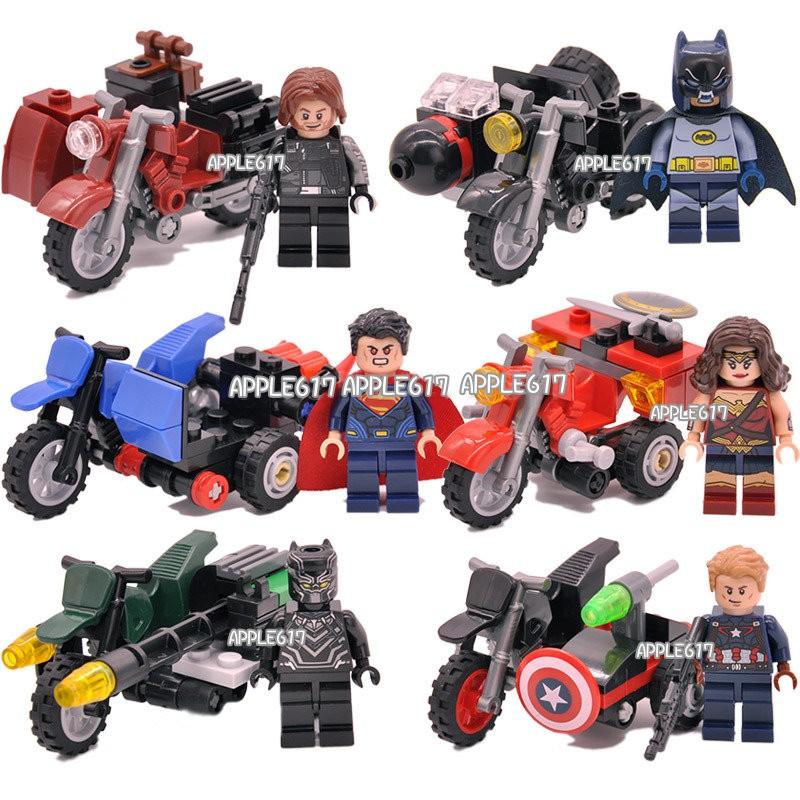 250 6 入1 套復仇者英雄摩托車越野機車酷寒超人蝙蝠俠美國隊長7008 7013