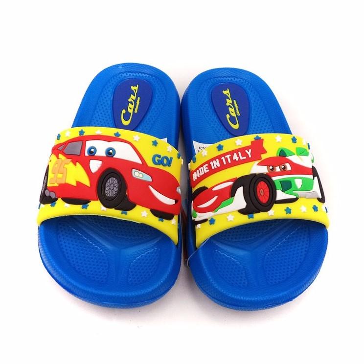 童鞋迪士尼CARS 閃電麥坤輕量輕便兒童拖鞋564718 藍色24 29 號