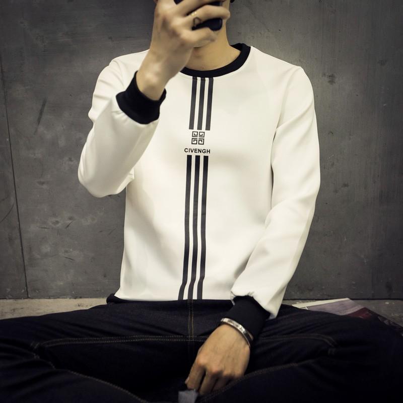 潮男2016  男生圓領衛衣T 恤衫長袖 青年男士打底衫飛行外套毛衣外套西裝外套防風外套棉