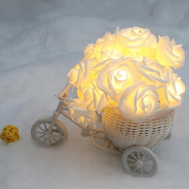 ~LED 仿真玫瑰花燈串~2 米LED20 燈串情人節裝飾聖誕燈花燈臥室裝飾燈求婚氣氛燈串
