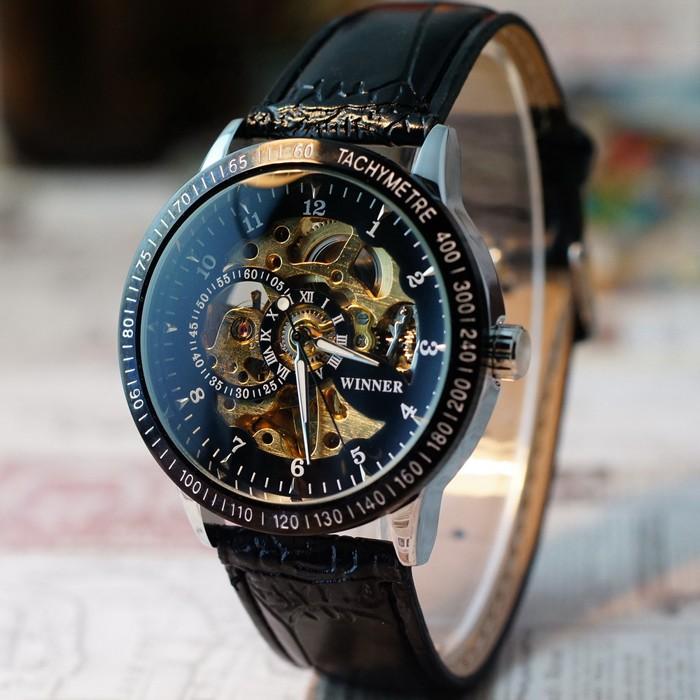 男士鏤空機械錶