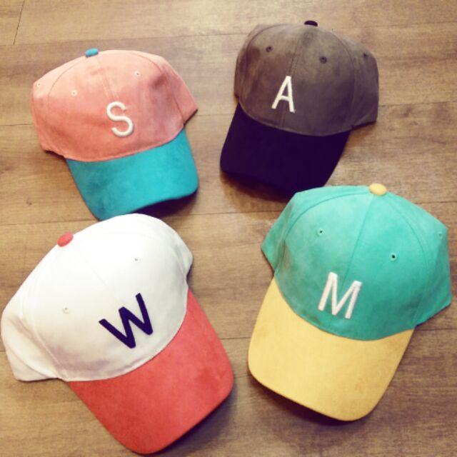 繽紛韓系馬卡龍撞色字母英文帽棒球帽鴨舌帽特殊