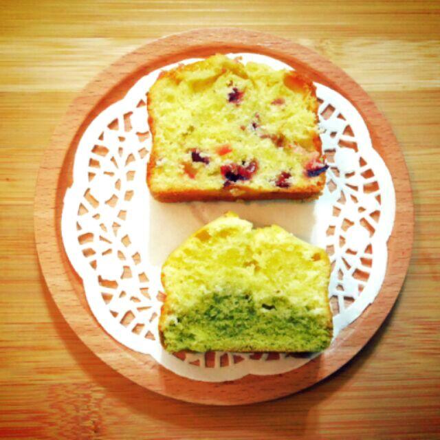 全 磅蛋糕蔓越莓雙色原味抹茶