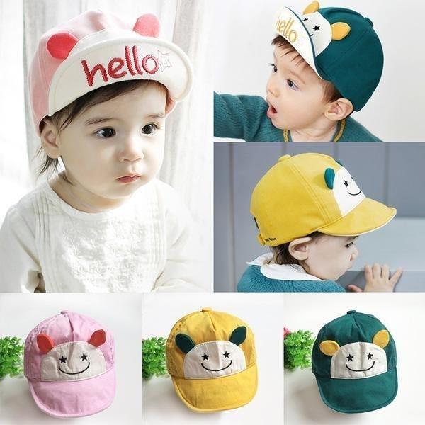 帽子棒球帽笑臉星星寶寶帽反沿太陽帽鴨舌帽童帽