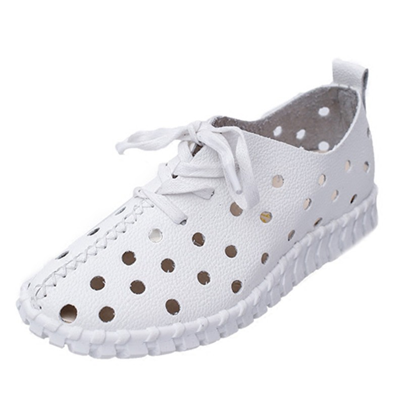 ~樂購屋~ 平底洞洞鞋女鞋鏤空透氣休閒沙灘鞋防滑軟底舒適涼鞋休閒鞋涼鞋豆豆鞋皮鞋懶人鞋 鞋