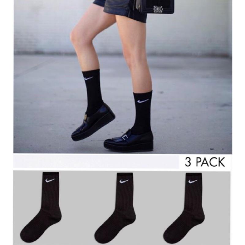 ~ 三入一組~中長nike 襪黑色襪子長襪男用女用國外正品