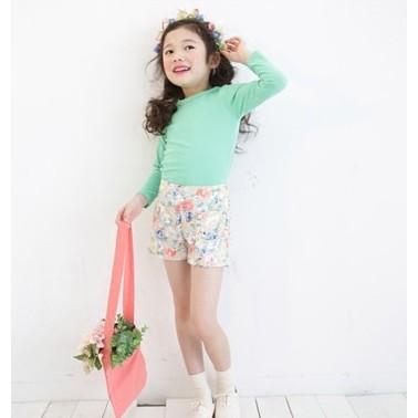 款兒童寶寶 純色素色長袖T 恤棉T 恤衛生衣打底衫多色