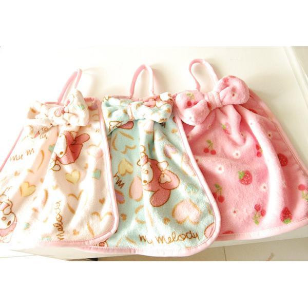 ~莓莓小舖~美樂蒂草莓卡通毛巾擦手巾掛式吸水巾廚房擦手巾抹布