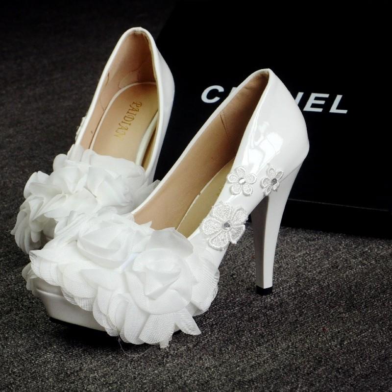 外貌鞋會結婚甜美 婚鞋平底鞋單鞋白色蕾絲新娘鞋伴娘鞋