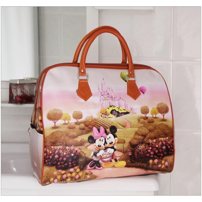 卡通旅遊包大容量旅行袋韓國手提可愛行李包待產包短途旅行包