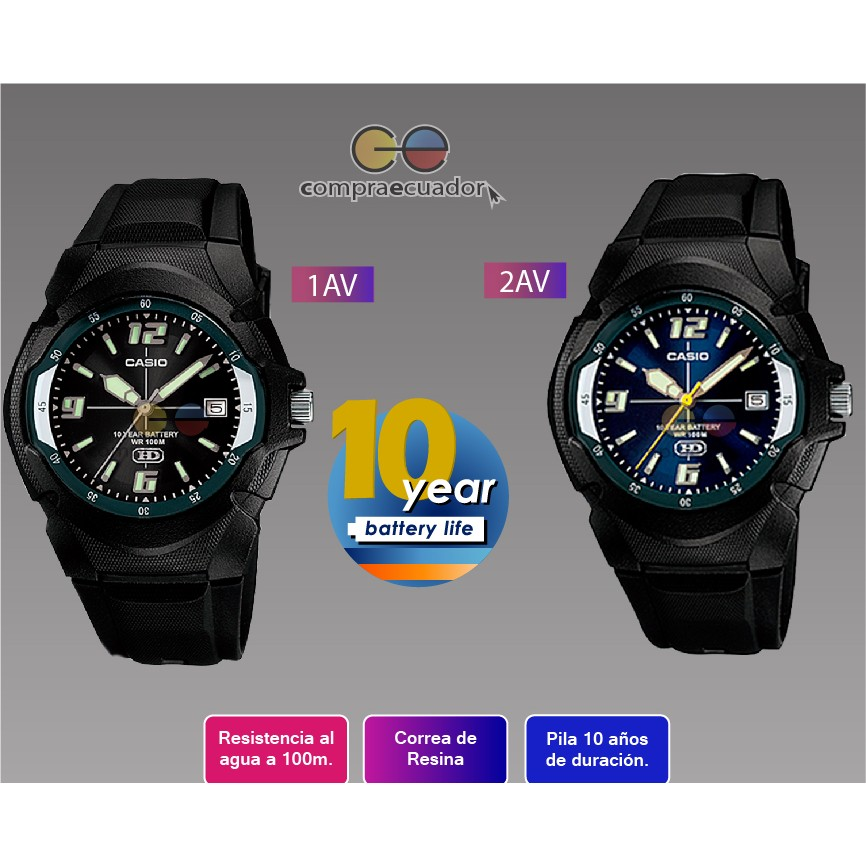 秀CASIO 手錶10 年電力多 指針型MW 600F 1A 黑色2A 藍色CASIO 貨