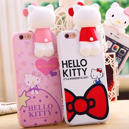 3D 立體趴趴kitty iphone6s 手機殼plus 保護套軟殼有防塵塞凱蒂Hell