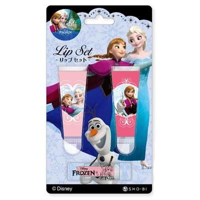迪士尼公主系列冰雪奇緣FROZEN 艾莎Elsa 安娜Ana 唇蜜唇膏 小孩可