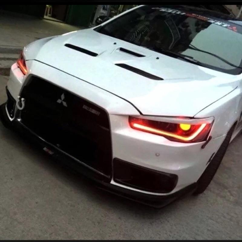 汽車LED 導光燈條改裝大燈總成淚眼燈管高亮度日行燈轉向雙色眉燈白黃60CM 一套2 條5