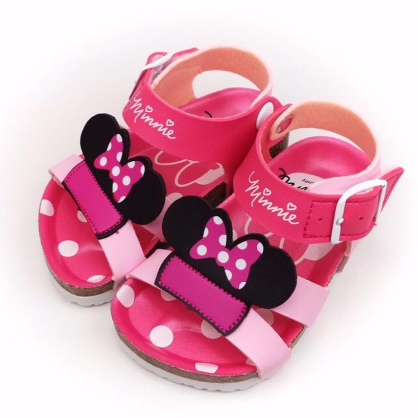 童鞋Disney 迪士尼米妮頭 點點氣墊兒童涼鞋463813 粉色13 17 號