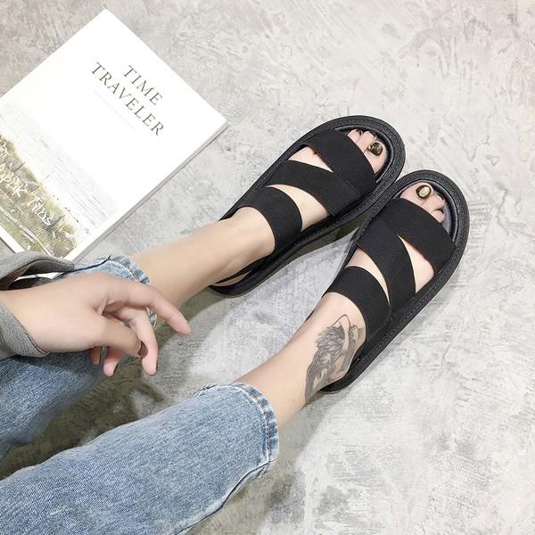 情侶涼鞋 羅馬防滑中性休閒 沙灘鞋拖鞋百搭中跟後底鞋涼鞋