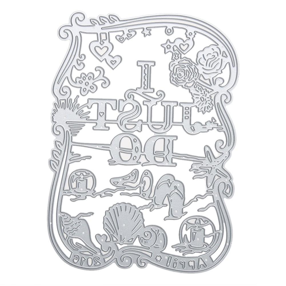 DIY 剪紙碳鋼刀模 相框I just do 圖案工藝裝飾品紙藝刀模