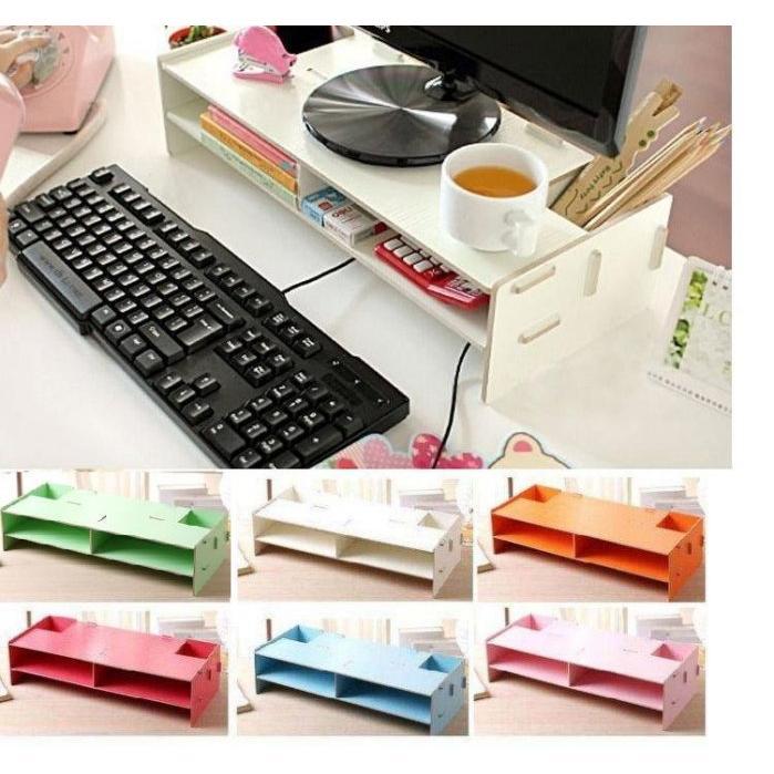 335 號倉庫6色 架 木製DIY 拼裝電腦架DIY 鍵盤架DIY 電腦架DIY 螢幕架D