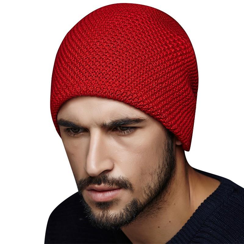 香香的店帽子男士冬天戶外毛線套頭青年包頭秋 加絨保暖針織 潮護耳