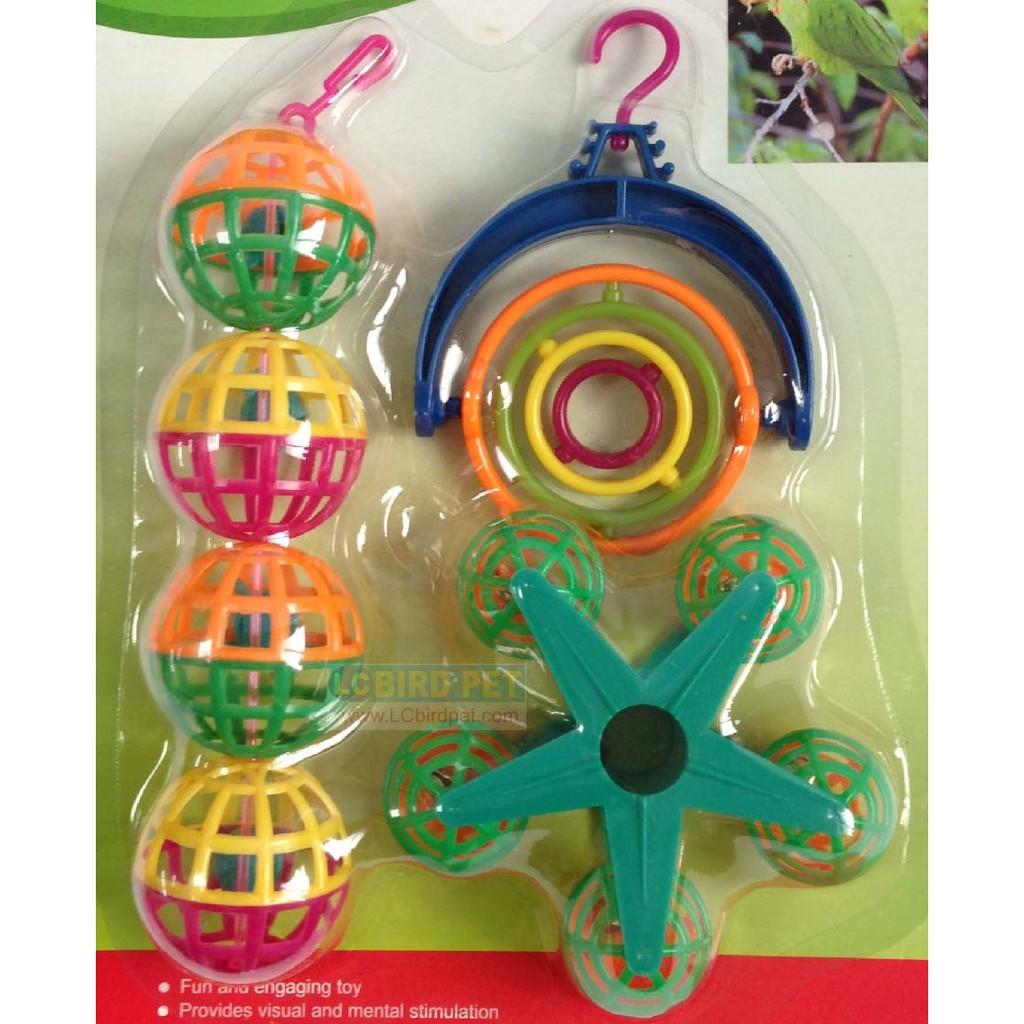 ~來成鳥園~鳥玩具鸚鵡玩具鳥寶的小型遊樂場一次擁有3 個玩具 虎皮牡丹小英玄鳳文鳥胡錦錦花