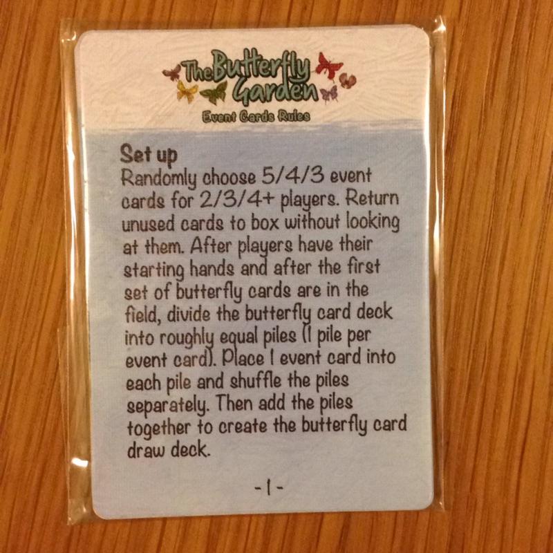 The butterfly garden events card 擴充