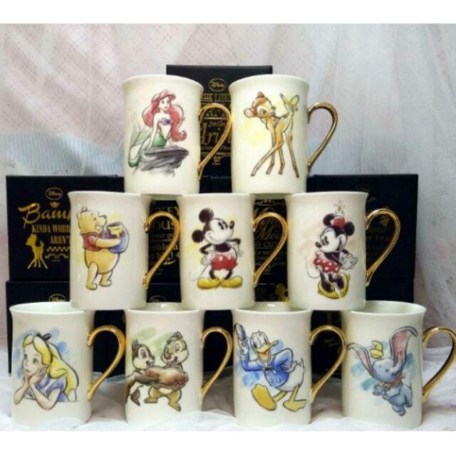 少量 迪士尼愛麗絲愛麗兒小鹿斑比小飛象米奇米妮維尼唐老鴨奇奇蒂蒂玻璃杯杯子售200
