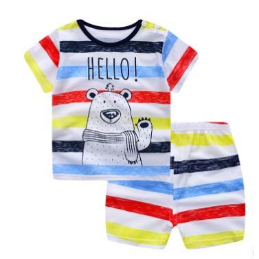 兒童短袖 2017 寶寶夏款短袖半袖夏裝新品嬰兒 童套裝