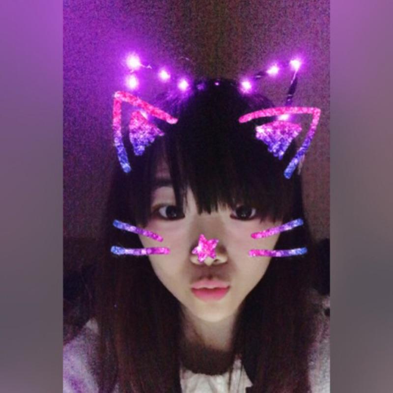 ( 立馬出)發光貓耳朵韓系貓耳朵夜店跑趴焦點發光頭飾發光髮箍地攤熱貨 表演變裝