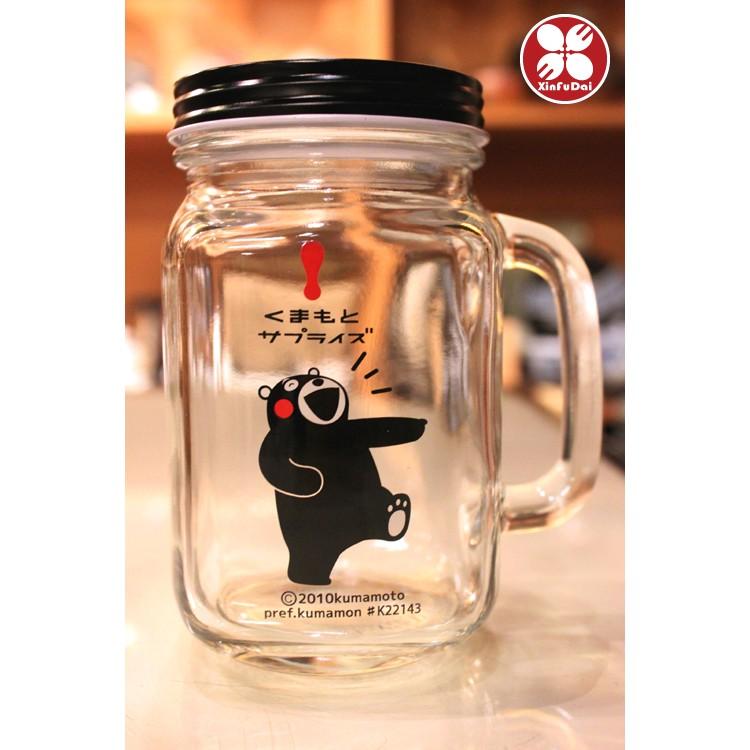 ~興富大行餐具~ 品  ~KUMAMON 玻璃杯罐熊本熊玻璃杯罐600ml ~熊本熊玻璃馬