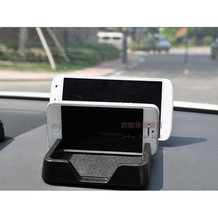 約翰家庭 ~~Q313 ~汽車雙卡槽多 手機架手機座防滑儀錶板置物盒中控台架平板置物架雜物