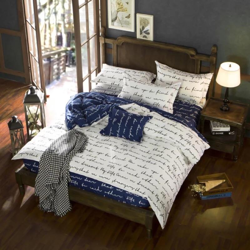 北歐簡約文學床包四件組床單被套枕套床組無印良品ikea zera 雙人床兒童簡約專櫃