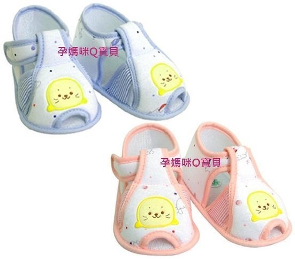 ~孕媽咪Q 寶貝~ 製黃金海獺嬰兒學步鞋透氣涼鞋式學步鞋M L XL 三段19325