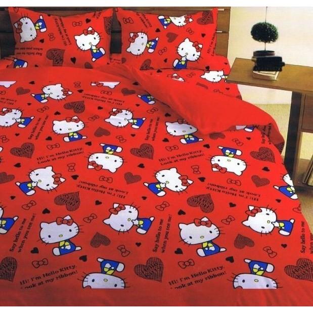 浪漫小屋~我是HELLO KITTY ~雙人床包枕套三件式5 6 2  KITTY 床包