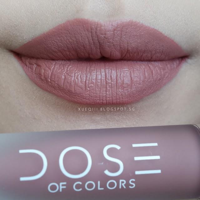 Dose of colors TRUFFLE 裸粉色超顯色持久霧面唇釉