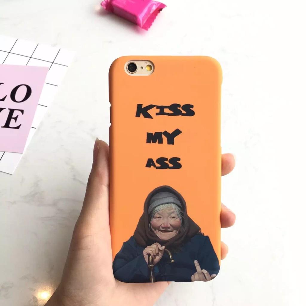 惡搞朋克奶奶比中指磨砂硬殼蘋果iPhone6 6S 6Plus iPhone5S SE 手