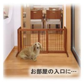 ~幸福培菓寵物~ Richell ~原木_ 可移動~圍籠欄_ 最長102cm