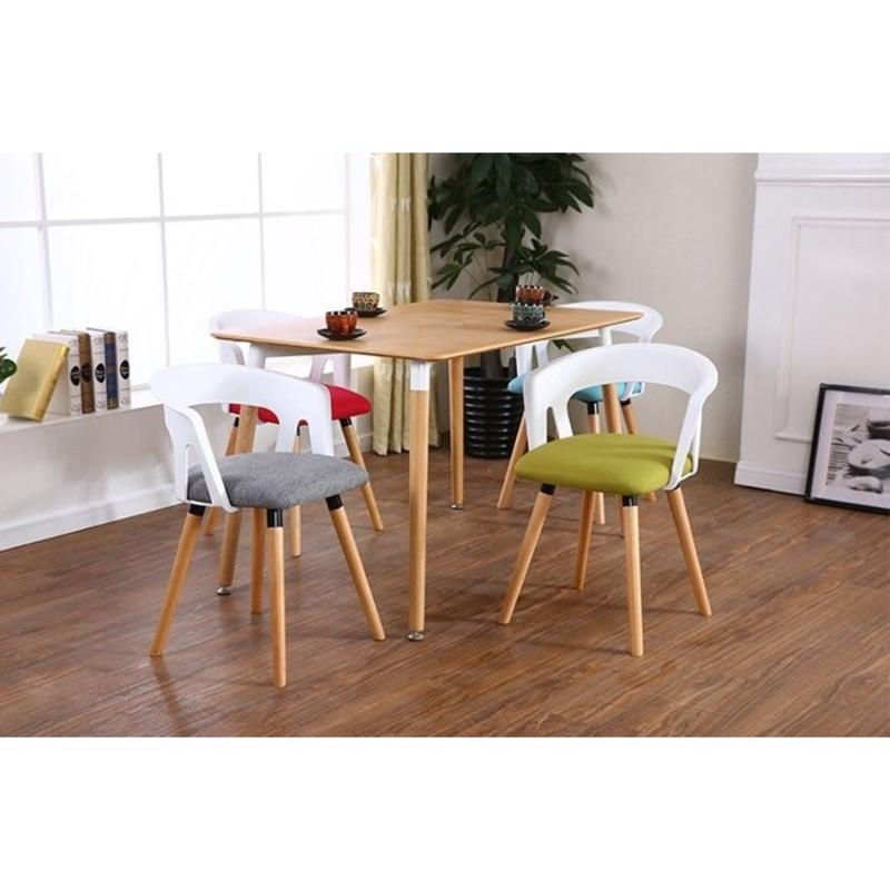 ~超 ~北歐 彎背椅休閒椅餐椅咖啡椅簡約麻布實木腳綠灰兩色