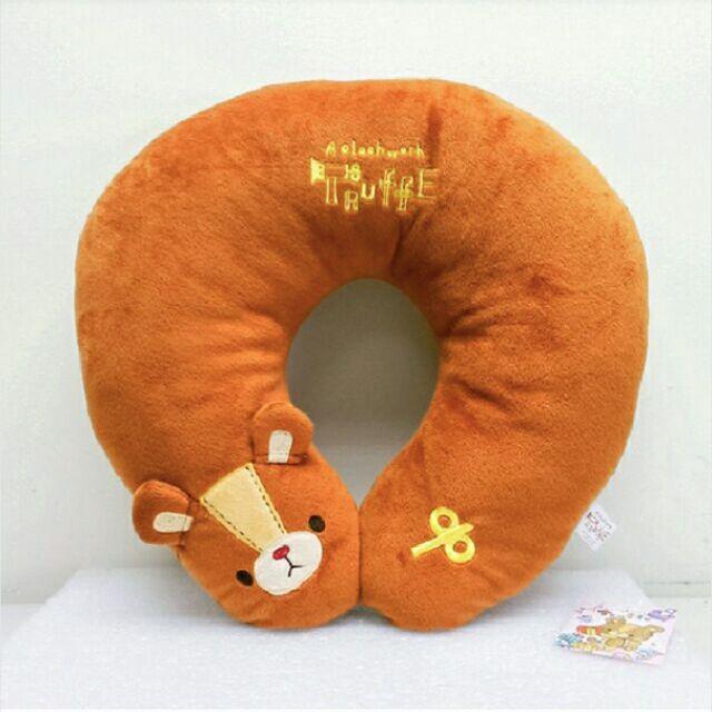 ~娃娃兵~Truffe 發條熊車用辦公U 型枕頸枕枕頭抱枕
