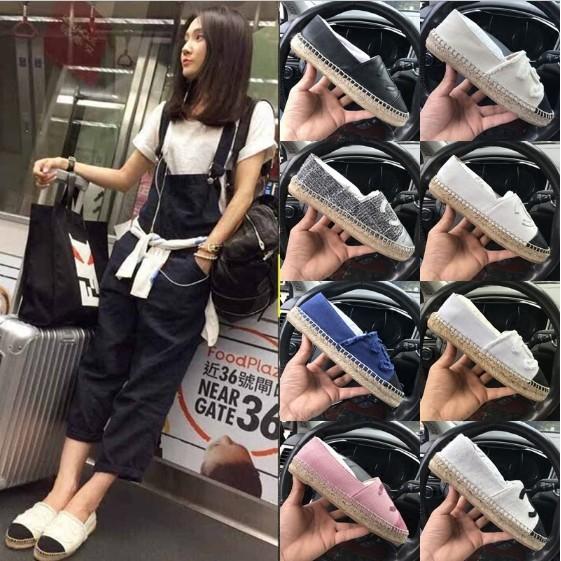 ~誠信 ~Chanel Espadrilles 款香奈兒 草編厚底漁夫鞋帆布鞋懶人鞋鉛筆鞋