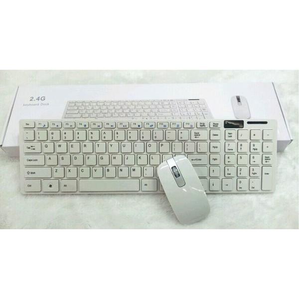 爆款超薄款式2 4G 無線鍵鼠套裝無線滑鼠鍵盤套裝支援智慧電視