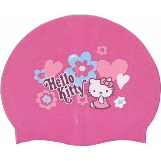 SUCCESS 成功A661 KITTY 兒童全矽膠泳帽