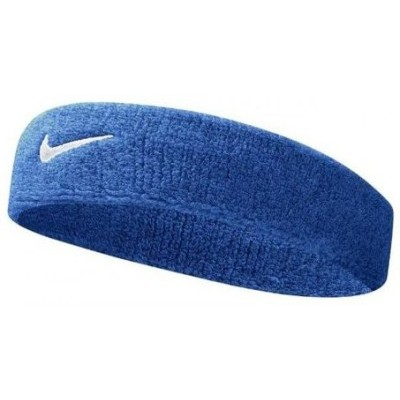 NIKE SWOOSH 單色頭帶藍色黑色AC2285
