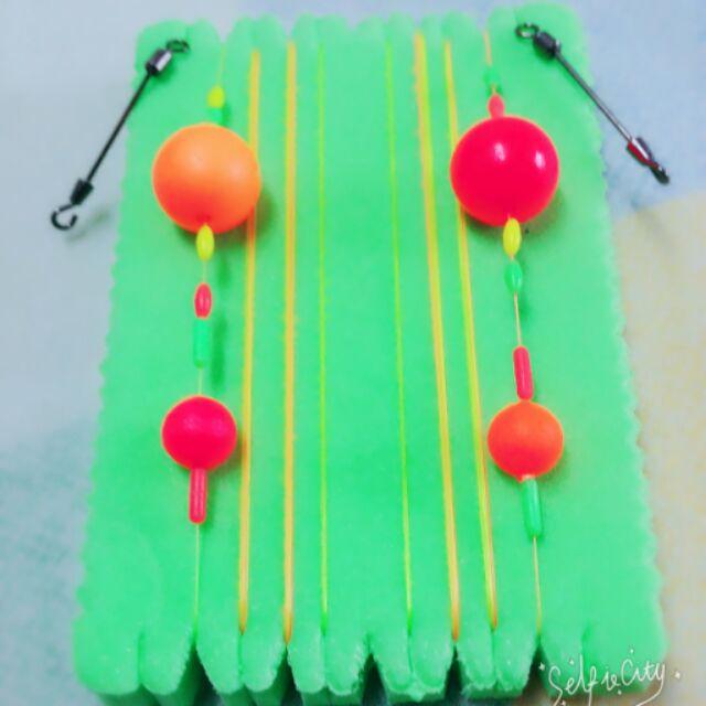 釣蝦線組蟲標(長短鉤)