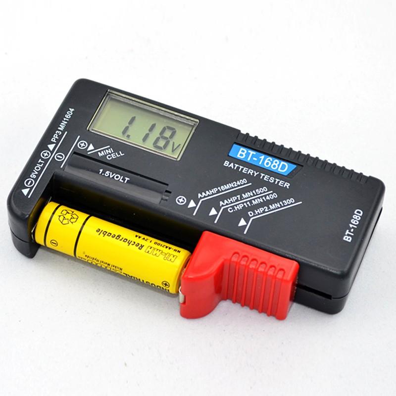 電池電量測試儀BT 168D 數顯檢測顯示器可測鈕扣5 號7 號充電電池