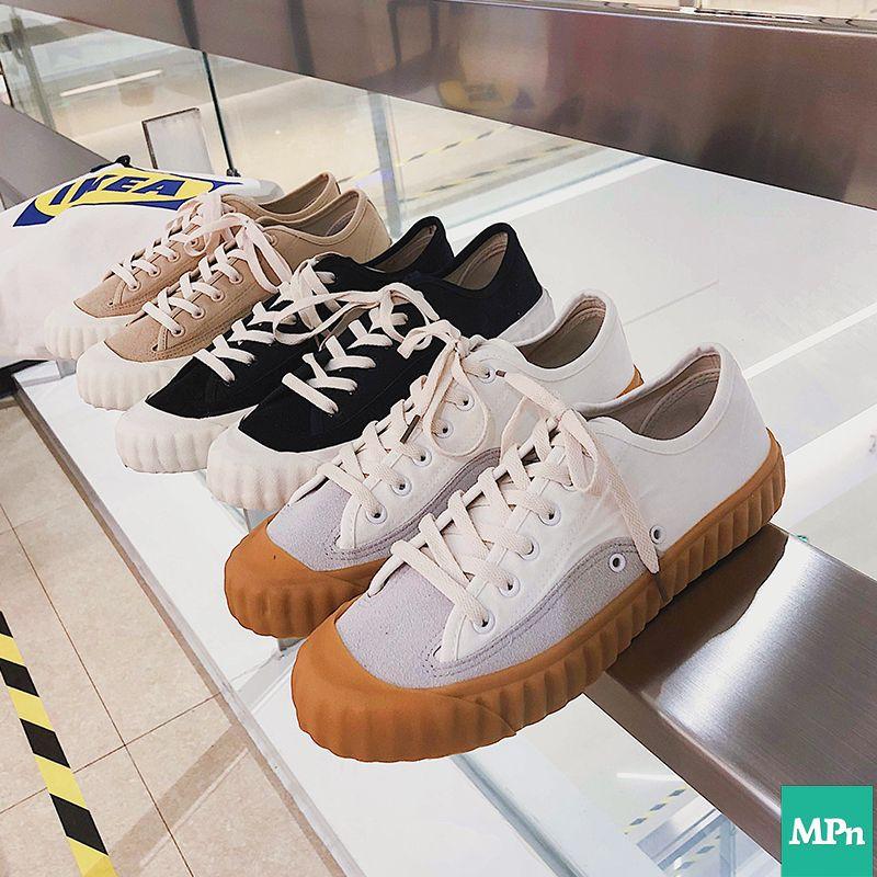 我愛台灣 焦糖餅乾鞋 新一代餅乾鞋 奶茶色 厚底鞋 帆布鞋 小白鞋 布鞋 奶茶鞋 增高鞋 女鞋 休閒鞋 懶人鞋 女生