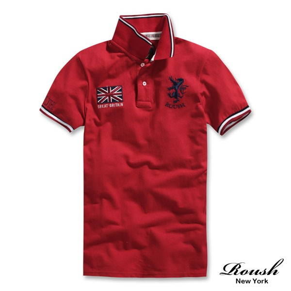 ROUSH 英國國旗貼布網眼短袖Polo 衫51032